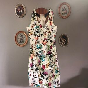 Floral mid length dress